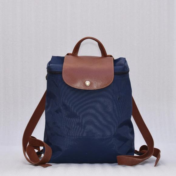 d4d7f6b1809 Longchamp Handbags - Longchamp Le Pliage Backpack - Navy Blue